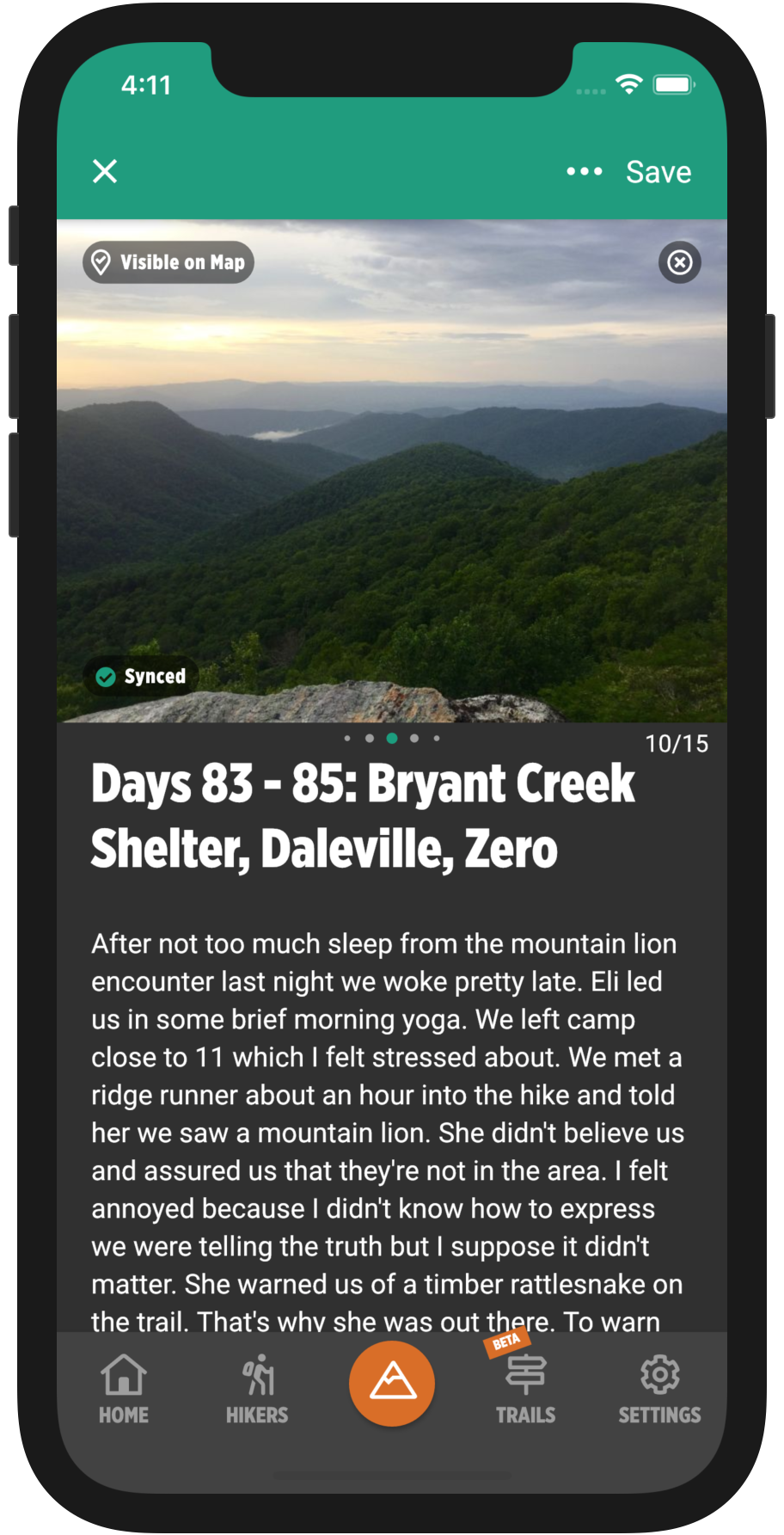 HikerFeed Mobile Screenshot - Trail Community Filters